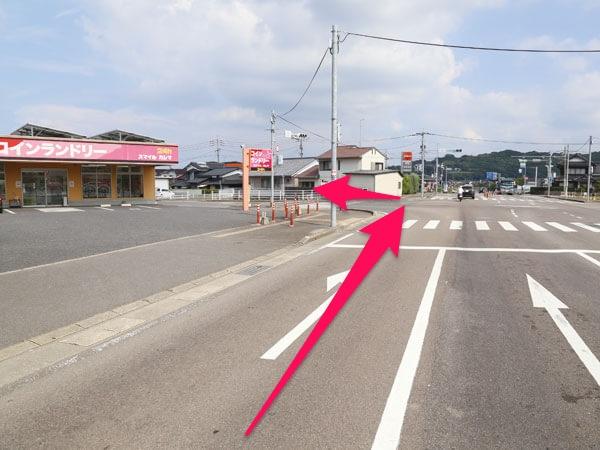 嬉野・白石方面から来た場合の辻交差点の写真